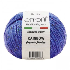 RAINBOW TWEED (75% орг. меринос, 25% полиамид ,50 г 150 м)