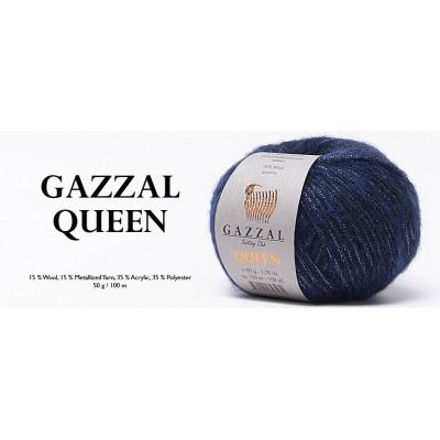 QUEEN GAZAL (15% шерсть, 15% металлизированная пряжа, 35% полиэстер, 35% акрил, 50 г 100 м)