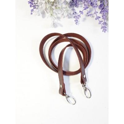 Ремень для сумки 120*1,5 (натуральная кожа, красно-коричневый) №9