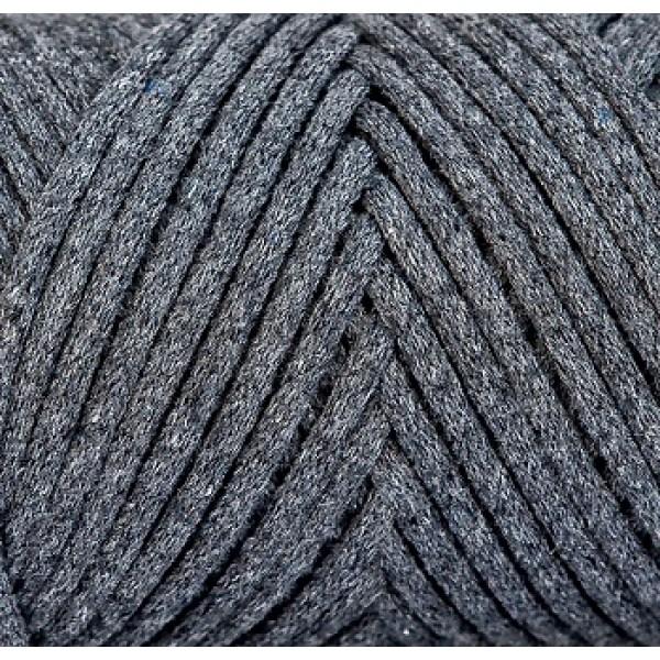 Cotton Filled Cord 3mm Maccaroni (Коттон филд корд Макарони)  34- темно-серый