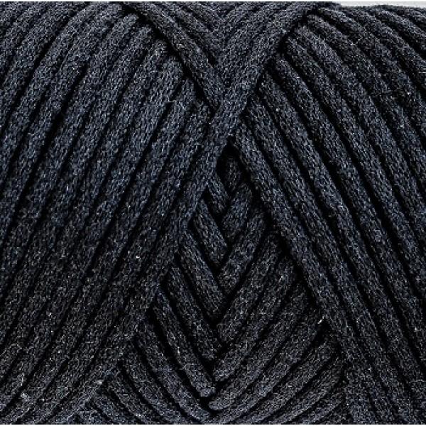 Cotton Filled Cord 3mm Maccaroni (Коттон филд корд Макарони)  7-черный
