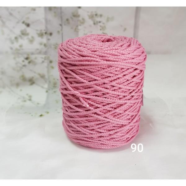 Полиэфирный шнур с сердечником 3 мм №90 т.роза
