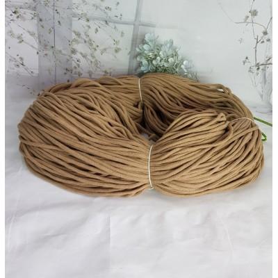 Шнур плетеный (100% хлопок, 6 мм ,200 м/930г) светло-коричневый