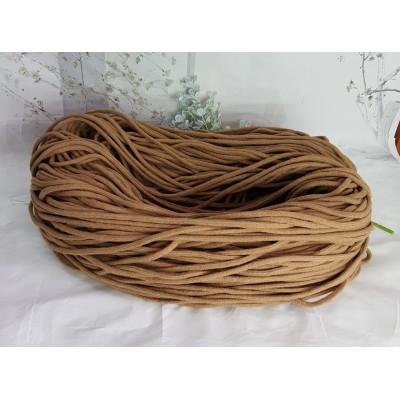 Шнур плетеный (100% хлопок, 6 мм ,200 м/930г) темно-коричневый